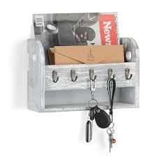 wall mounted key hooks coat rack mail