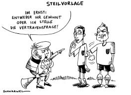 Существительное, женский род, склонение = n. Vertrauensfrage Von Schwarwel Politik Cartoon Toonpool