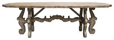 rustic french country furniture. french country rustic scroll farmhouse dining table traditionaldiningtables furniture