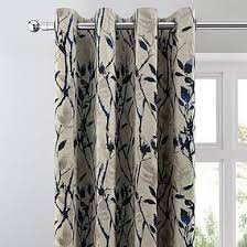 Gray and beige curtains Room Darkening Zen Blue Lined Eyelet Curtains Loznewwebexclusive Dunelm All Ready Made Curtains Dunelm
