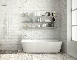 tiled bathroom floor