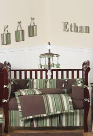 baby boy crib sheets babys own room green and brown ethan baby bedding set this modern