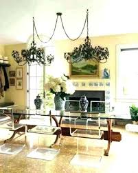 swag chandelier swag chandelier over dining table incredible modern home interior swag lighting canada