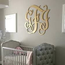 large wooden monogram letters big wood wall