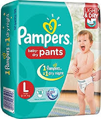 Pampers Baby Dry Pants Large Size Diapers 18 Count