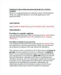 Sample Recommendation Letter For Probationary Employee Futuristic