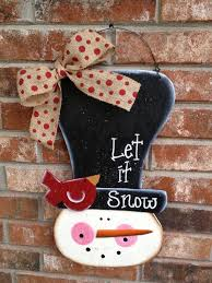 whimsical snowman door hanger by southernsupply 15 00