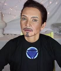 robert downey jr s tony stark make up look