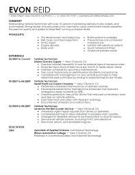supply technician resume sample resume examples for technicians automotive technician resume sample