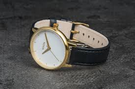 nixon kensington leather watch gold white black at a great 121