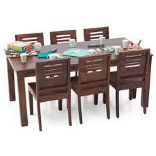 dining table furniture india. arabia xl - capra 6 seater dining set (teak finish) table furniture india u