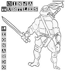 Coloring Pages Last Chance Leonardo Teenage Mutant Ninja Turtles