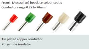 Ferrule Color Chart Bootlace Terminals Cable End Ferrules