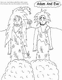 Small Picture Free Bible Coloring Pages Of Adam And Eve Coloring Home