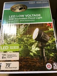 Hampton Bay Led Low Voltage Flood Light 4 Pack Hampton Bay Led Low Voltage 20w Equivalent Landscape Flood Light 4 Pack New