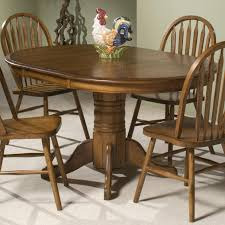 Intercon Classic Oak Single Pedestal Round Dining Table Wayside