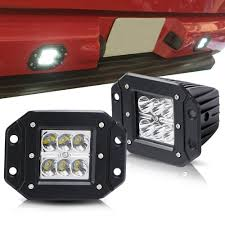 High Intensity Backup Lights Turbosii Spot 3x3 4 5in Flush Mount Pods Cube Reverse Backup Lamp Auxiliary Driving Fog Lights Bumper Grille Offroad Work Light For Toyota Tacoma Ford