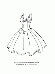 Barbie Coloring Pages Dress Coloring Pages For All Ages Coloring