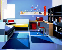 ... Wonderful Blue Kids Bedroom Ideas Blue Solid Wood Drawer Dresser Blue  Office Chair White Wood Shelves