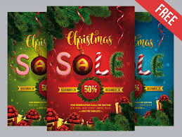 Free Christmas Sale Poster Psd Template By Mockupfree Dribbble