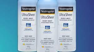 Neutrogena sunscreen recalled over ...