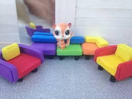 how to make miniature furniture. How To Make LPS Furniture: Couch \u0026 Chair Miniature Furniture