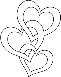 Valentine Coloring Pages - print these out to send to your ... & Joined hearts coloring page, linked heart chain printable coloring picture. Adamdwight.com