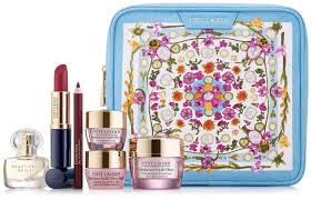 hudson s bay canada beauty gwp estee lauder receive free amba living makeup bag 6 pc gift set canadian gift with purchase offer glossense