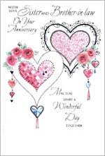 Sister and Brother in Law Wedding Anniversary Cards