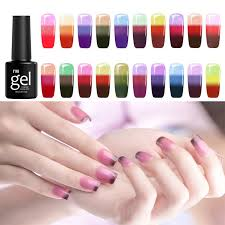 24 colors temperature colors change soak off uv nail gel polish diy nail art