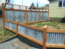 corrugated metal fence and wood ideas best about on panels design cost vs