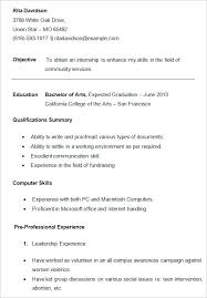 Resumes Templates For College Students