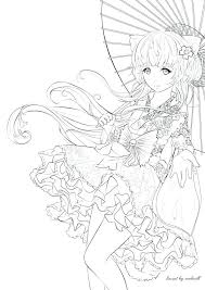 Manga Colouring Pages Printable Manga Coloring Page Color Pages