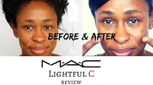 Lightful C Tinted Cream Mac Review Before After M A C Lightful C