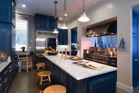 Kitchen:Modern Kitchen, Twin Islands, Marble Bench Top Calming Sleek  Kitchen Design With