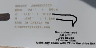 Pitch Gauge Chart Carlton Chainsaw Chain Chart Chainsaw