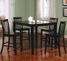 black wood dining chair. Square Black Wooden Dining Table With Four Legs Added By Chairs On Brown Floor Wood Chair F