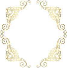 gold frame border png. Instant Download Golden Frame Border Clipart Gold Digital Png