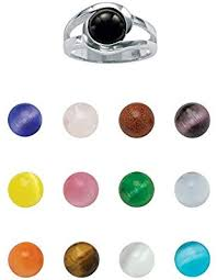 Sterling <b>Silver</b> Multi-<b>color</b> Genuine Agate and <b>Simulated</b> Cat's Eyes ...