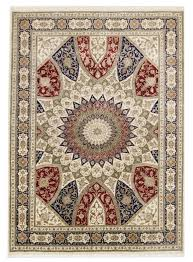 hand made iran carpet tabriz gonbad 205x285cm wool silk