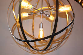 extra large orb chandelier
