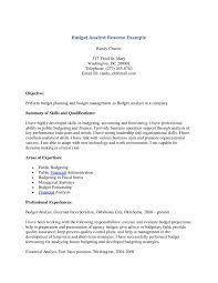 Budget Analyst Resume Sample Gallery Of Resume Example Budget Analyst Resume Sample Finance 6