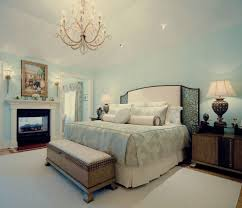 transitional master bedroom. Master Bedroom Chandelier Traditional With Aqua Walls Bench Birdseye Transitional
