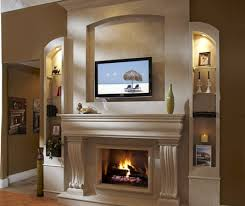 full size of fireplace the stunning gas fireplace designs with tv above stunning wall mount