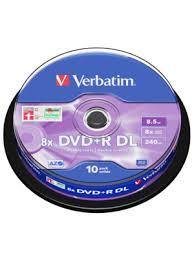«<b>Диски DVD</b>+<b>R</b> 8.5Gb Verbatim 8x 10 шт Cake box <b>Dual</b> Layer ...