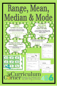 Mean Median Mode Anchor Chart Range Median Mode Mean The Curriculum Corner 4 5 6