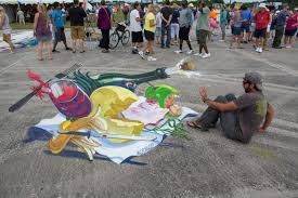 3d street painting angry