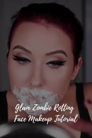 would be appropriate pretty easy for you to acplish but still half glam so here is a glam zombie tutorial with a rotting face haha