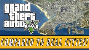 la size grand theft auto 5 los santos map size compared to real life