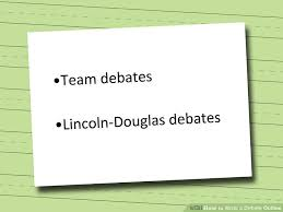 how to write a debate outline steps pictures wikihow image titled write a debate outline step 1